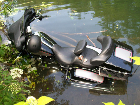 Give your bike a bath - but probably not like this!